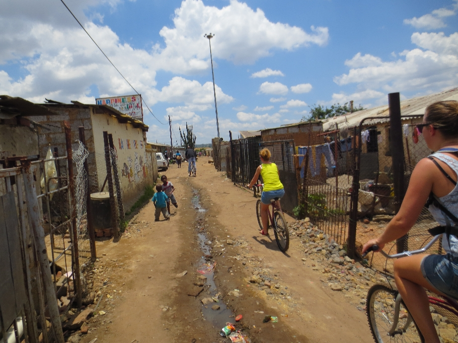 Fietsen door Soweto