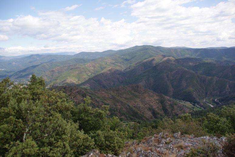 De bergachtige Cevennen (Central Massief)