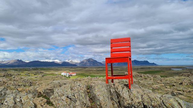rode stoel ijsland