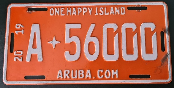Aruba number plate