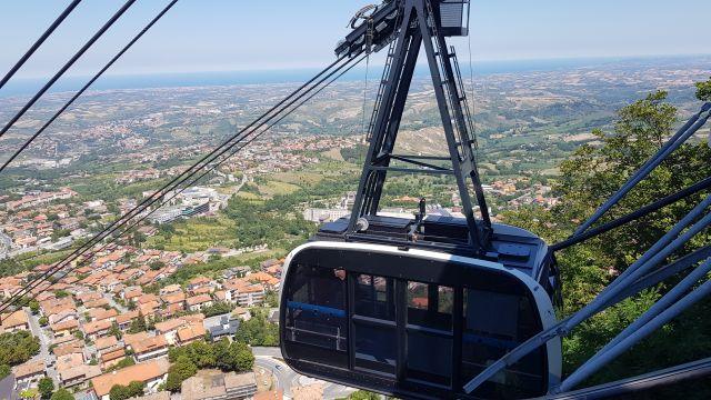 De lift naar San Marino